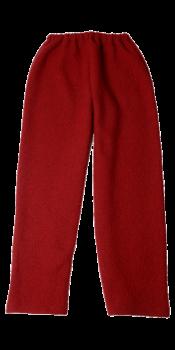 KREPP dámské teplákové kalhoty z vlněného buklé - červená
