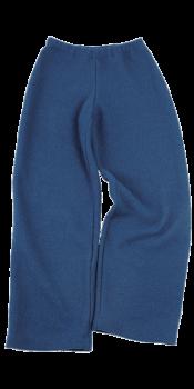 KREPP dámské teplákové kalhoty z vlněného buklé - modrá