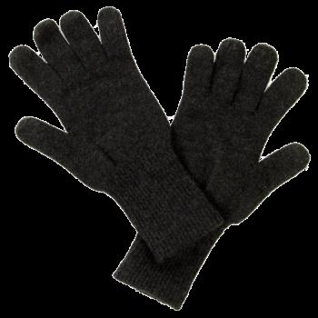 REIFF prstové rukavice ze 100% bio merino vlny - tmavě šedá antracit