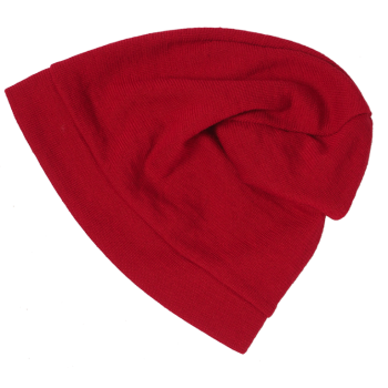 BEANIE čepice z bio merino vlny - červená