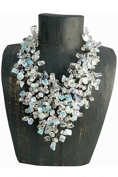 MOONSTONE náhrdelník s opály