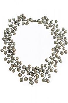 SILVER perlový náhrdelník