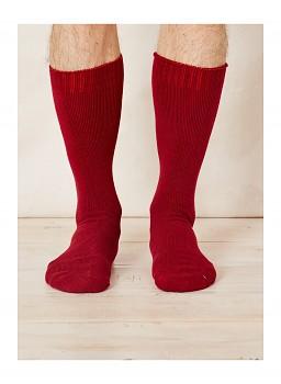 Pánské ponožky z bambusu - červená