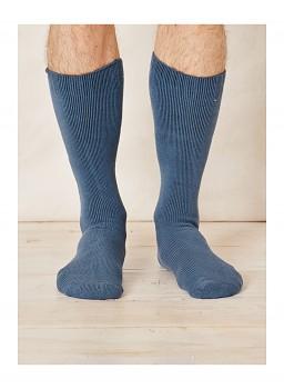 Pánské ponožky z bambusu - modrá denim