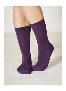 SOLID JACKIE dámské bambusové ponožky - fialová