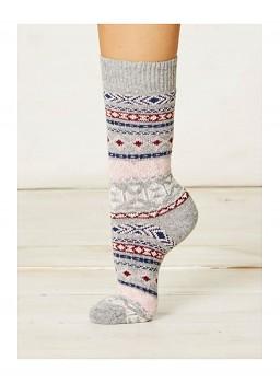 NERA dámské ponožky z biobavlny a vlny - šedá