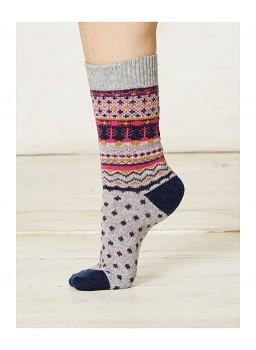 SASCHA dámské ponožky z biobavlny a vlny - šedá