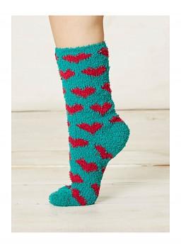 IMOGEN dámské ponožky z recyklovaného polyesteru - modrozelená forest