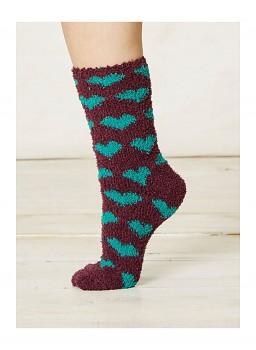 IMOGEN dámské ponožky z recyklovaného polyesteru - fialová plum