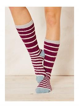 BANGORA dámské ponožky z recyklovaného polyesteru - fialová