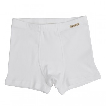 Comazo chlapecké boxerky ze 100% biobavlny - bílá