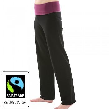 Comazo Earth Dámské úpletové kalhoty z biobavlny - černá