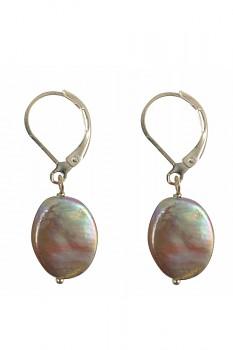 Náušnice s říčními perlami