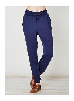 GWENNA dámské kalhoty z bambusu a modalu - modrá indigo
