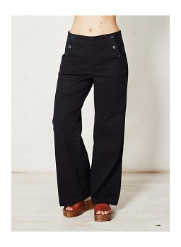 JESSY dámské kalhoty z biobavlny - tmavě modrá indigo