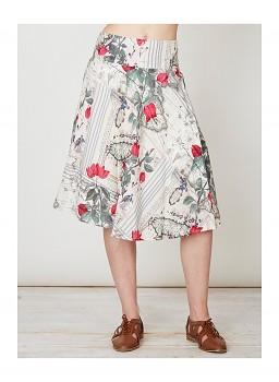 VOYAGE DE JEANNE dámská sukně ze 100% tencelu