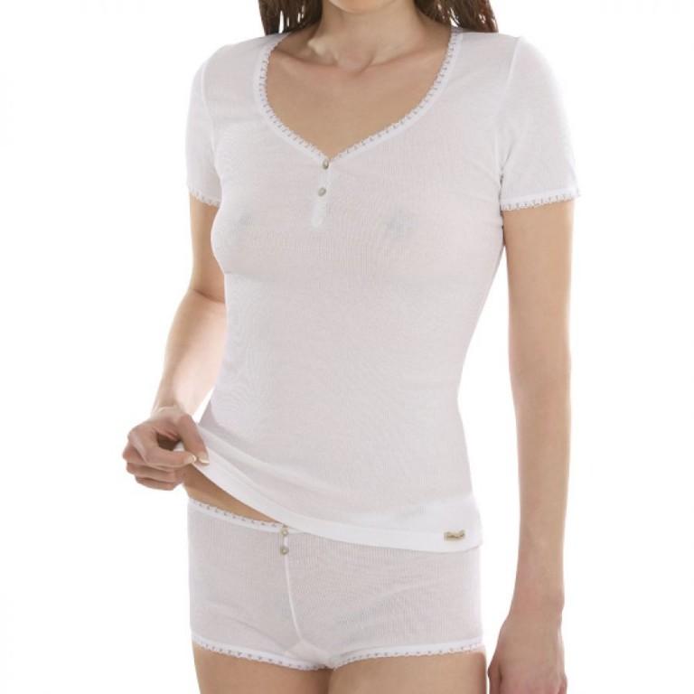 11794ca4a3 Comazo Earth Dámské žebrované tričko z biobavlny - bílá 30denni ...