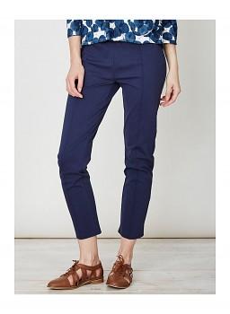 KRISTA dámské kalhoty z biobavlny - tmavě modrá indigo