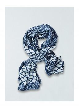 JAIME dámská šála ze 100% bambusového vlákna - modrá indigo
