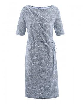 SUMMER Dámské šaty z konopí a biobavlny - modrá wintersky