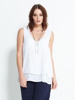 FLOATY dámský letní top bez rukávů - bílá