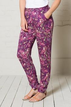 MEADOW dámské letní kalhoty - malinová