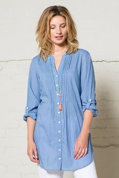 PIN dámská tuniková košile - světle modrá