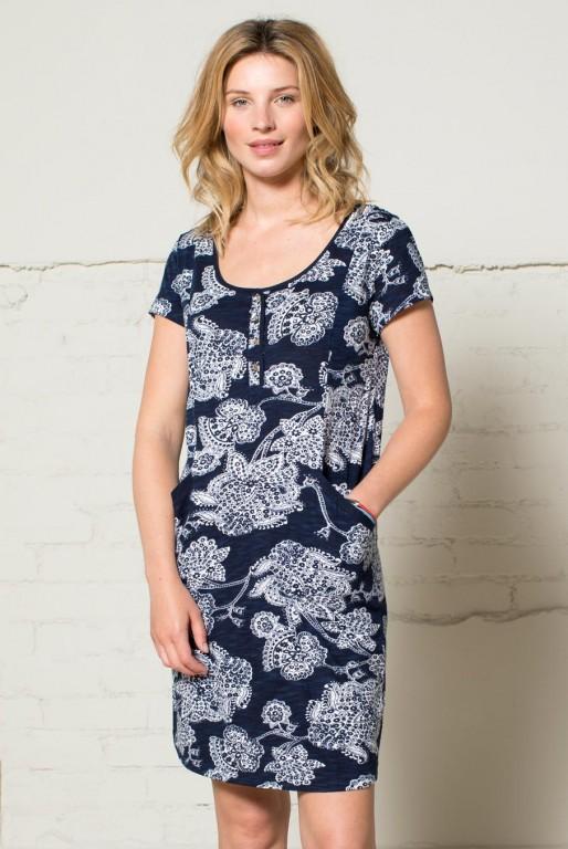 79d01422335 BALI dámské šaty ze 100% biobavlny - tmavě modrá navy 30denni ...