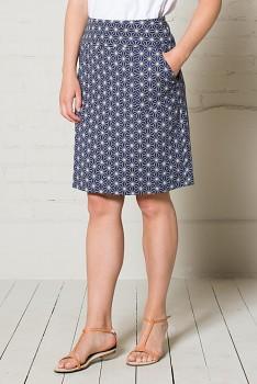 GEO STAR dámská sukně z biobavlny - modrá navy