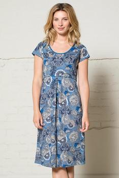 LOTUS dámské letní šaty ze 100% biobavlny  - modrá denim