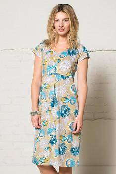 LOTUS dámské letní šaty ze 100% biobavlny  - tyrkysová