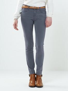 SKINNY dámské letní džíny - šedá silver