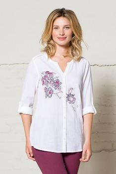 CHERISH dámská košile s výšivkou