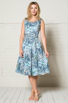 FLOR dámské letní šaty - modrá