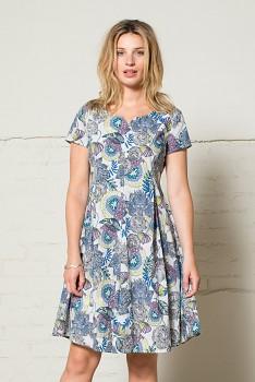 50´s dámské letní šaty - modrá heather