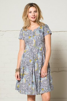 50´s dámské letní šaty - šedá