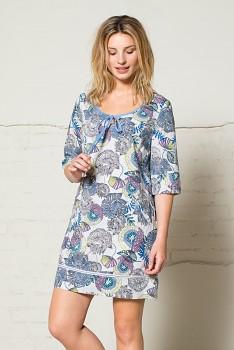 50´s dámská letní tunika s 3/4 rukávy - modrá heather