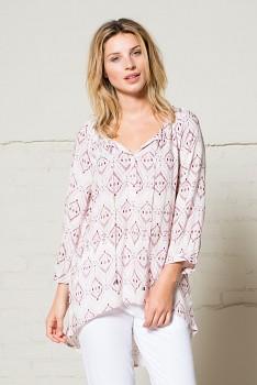 IKAT dámská letní halena - světle růžová blush