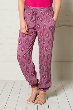 IKAT dámské letní kalhoty - růžová heather