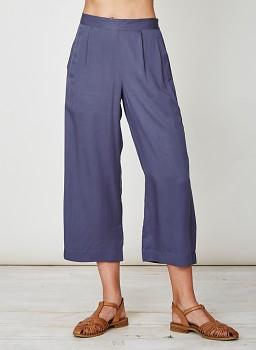 TANAMI dámské kalhoty culottes ze 100% tencelu - modrá steel