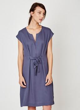 TANAMI dámské denimové šaty ze 100% tencelu - modrá steel