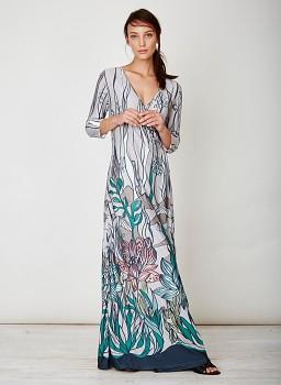 DESERT dámské maxi šaty z bambusu a biobavlny
