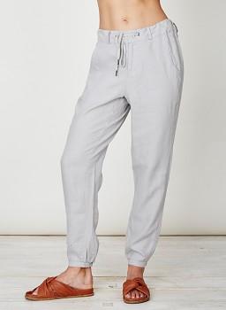 FELIPA dámské kalhoty ze 100% konopí - světle šedá taupe