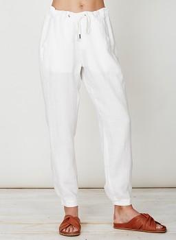FELIPA dámské kalhoty ze 100% konopí - bílá cloud