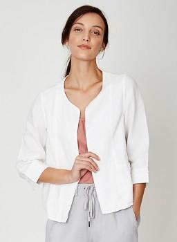 FELIPA dámské sako ze 100% konopí  - bílá cloud