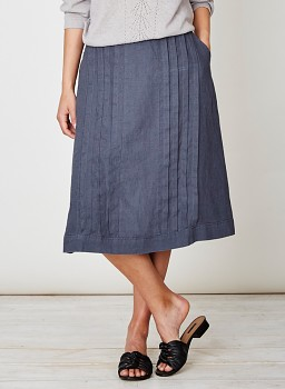 FELIPA dámská sukně ze 100% konopí - modrá steel