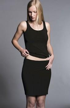 HempLine ISA dámská úpletová sukně z konopí a biobavlny - černá