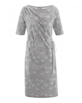 SUMMER Dámské šaty z konopí a biobavlny - šedohnědá taupe
