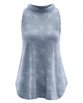 FILI dámský top bez rukávů z konopí a biobavlny - tmavě modrá wintersky