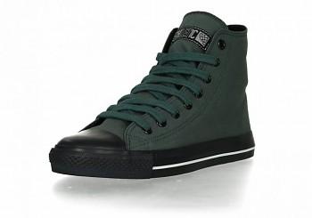 Fair Trainer Collection Black cap hi cut kotníkové tenisky - tmavě zelená reseda/černá jet